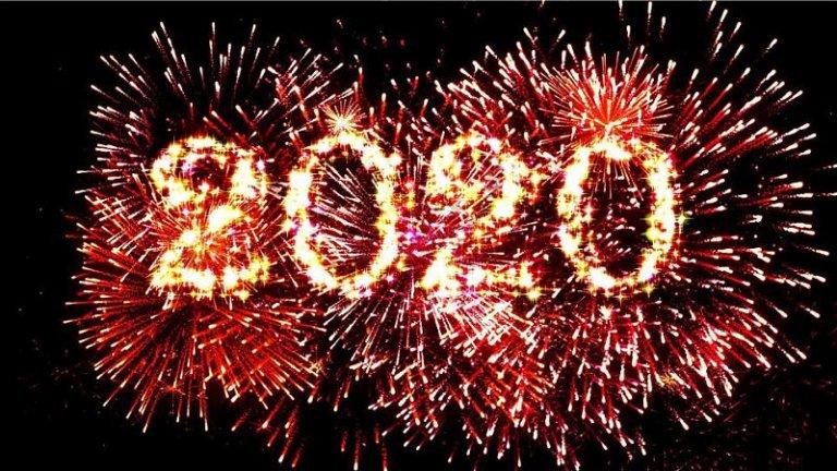 Feuerwerk am Himmel bildet 2020