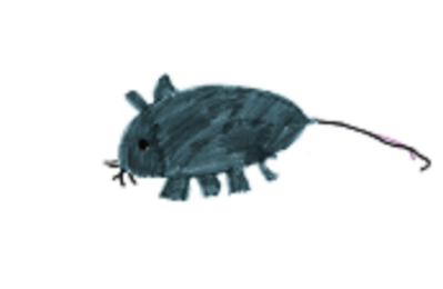 Maus gemalt von einem Kind